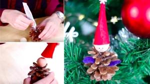 Image illustrant l'article Sublimez votre sapin avec un lutin conçu à l'aide d'une pomme de pin