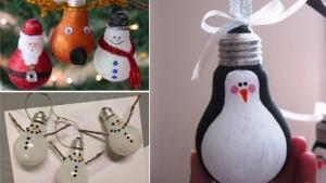 Image illustrant l'article De simples ampoules usagées pour concevoir 33 décorations pour votre sapin de Noël
