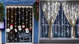 Image illustrant l'article 15 Idées pour habiller vos fenêtres aux couleurs de Noël