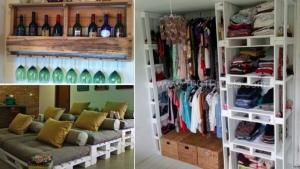16 id es pour recycler des palettes en bois pour votre maison. Black Bedroom Furniture Sets. Home Design Ideas