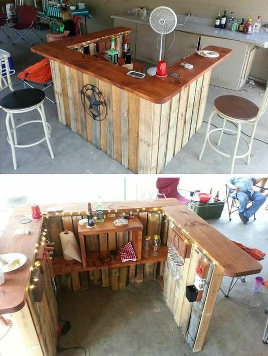 12 id es pour construire des bars uniquement avec des palettes. Black Bedroom Furniture Sets. Home Design Ideas
