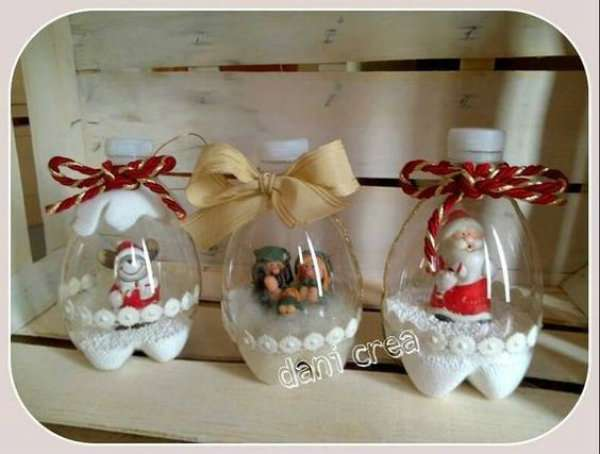 Idee Deco Noel Avec Bouteille Plastique 13 décorations de noël incroyables avec des bouteilles en plastique
