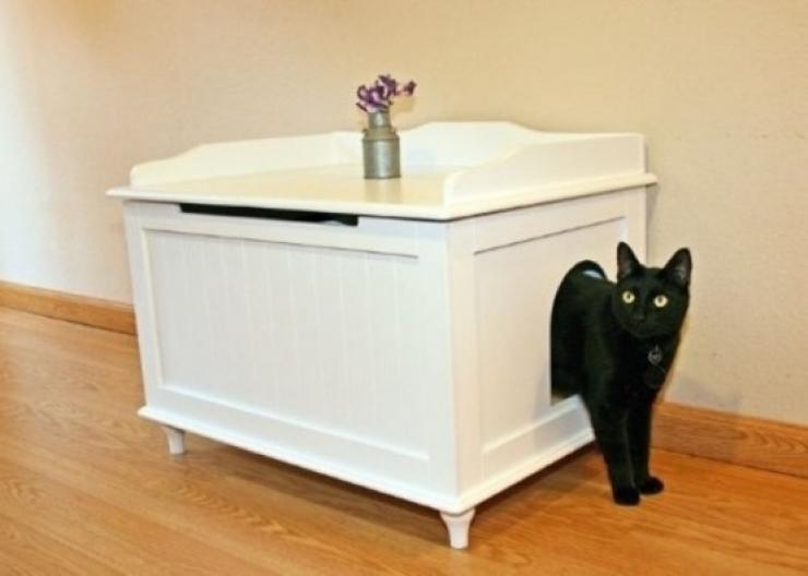 34 solutions pour enfin masquer la liti re de votre chat for Meuble litiere chat