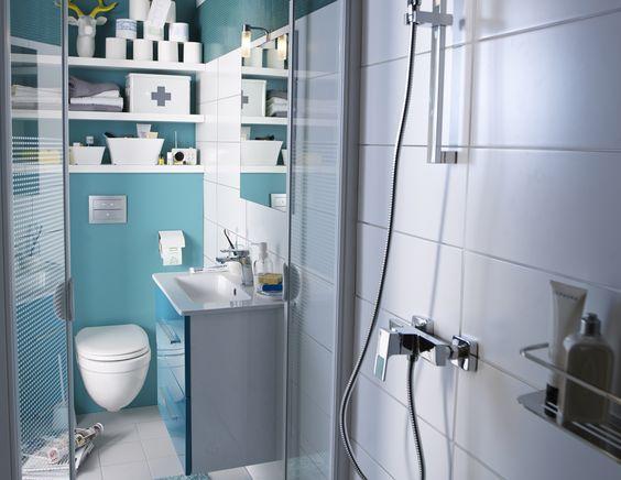 15 rangements attractifs pour gagner de l espace dans votre salle de bain - Mini salle de bain 2m2 ...