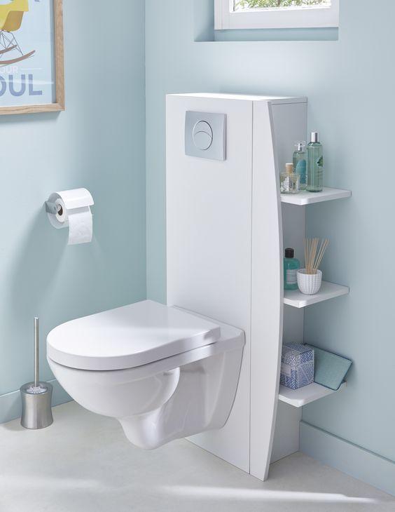 15 rangements attractifs pour gagner de l espace dans votre salle de bain - Rangement wc castorama ...