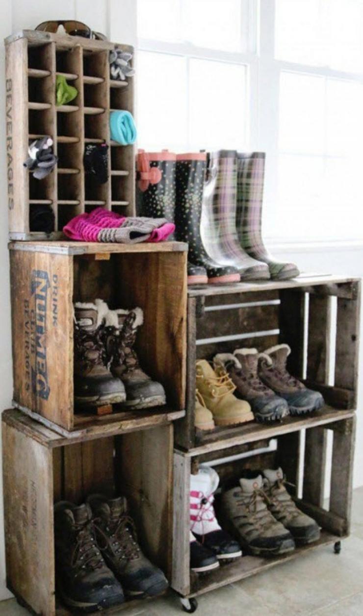 14 id es pour enfin ranger convenablement les chaussures. Black Bedroom Furniture Sets. Home Design Ideas