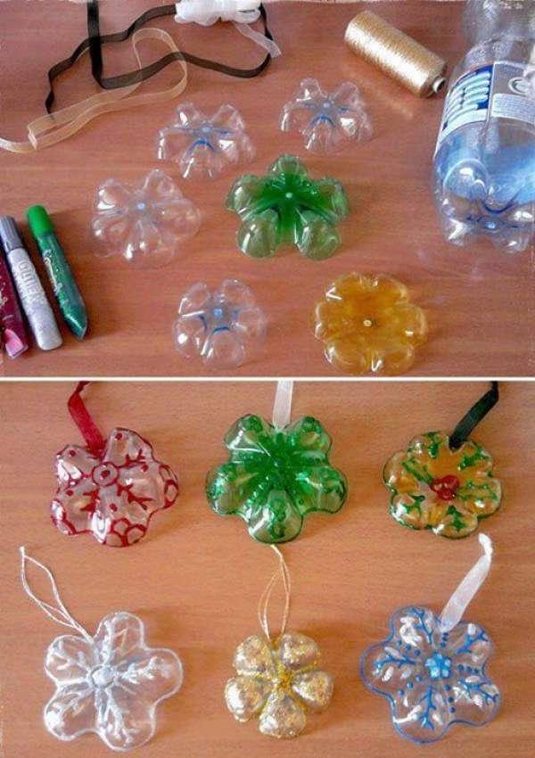 Bricolage Avec Une Bouteille En Plastique 13 décorations de noël incroyables avec des bouteilles en plastique